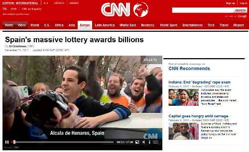 El Gordo winners on CNN