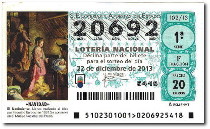 El Gordo 2013 ticket