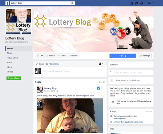 lottery blog on fb